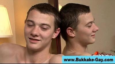 amateur gays  blowjob  bukkake